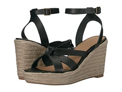 Soludos Charlotte Wedge (Black) Women