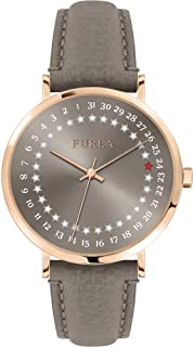 Furla Giada Date Grey Dial Ladies Leather Watch R4251121502