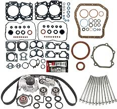 MOCA Timing Belt Kit & MPLUS Head Gasket Set & Lower Gasket Set & Head bolts Compatible for 1999-2003 Subaru Legacy Impreza Forester Outback 2.5L H4 EJ25 SOHC