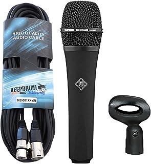 Telefunken M80Black dinámico micrófono Keepdrum XLR de cable