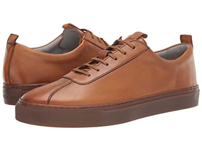 Grenson Smooth Leather Basic Sneaker (Tan Calf) Men