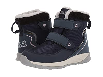Jack Wolfskin Kids Polar Wolf Texapore Mid VC (Toddler/Little Kid/Big Kid) (Dark Blue/Off-White) Girls Shoes