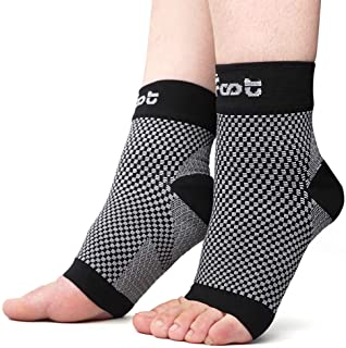 Dr. Foot`s Compression Arch Support Sleeves Socks with Comfort Gel Pads for Men & Women, Relief for Plantar Fasciitis, Flat Feet, Foot and Heel Pain (M - Men`s 5-7.5 | Women`s 6-9.5)