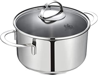 Mr Rudolf 3 Quart 18/10 Stainless Steel 2 Handle Stock Pot with Glass Lid Dishwasher Safe PFOA Free Stockpots Casserole 20cm 3 Liter Dutch Oven