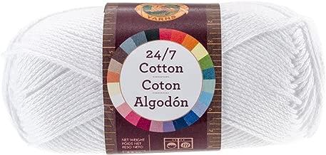 Lion Brand Yarn 761-100 24-7 Cotton Yarn, White