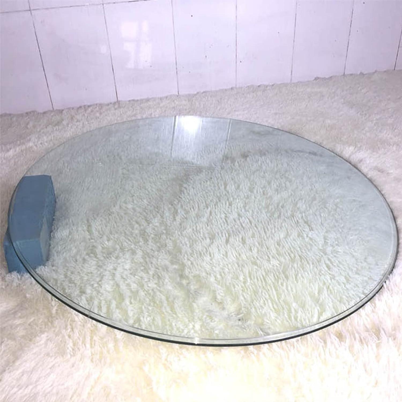 Tablero De Mesa De Cristal Templado 38cm 45cm 52cm 56cm 64cm 78cm, Grosor 9 Mm Cristal Redondo Tablero De Mesa, Fácil De Limpiar Transparente Vidrio Templado ( Color : Clear , Size : 44cm(17. 3in) )
