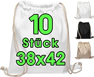 Bolsa de algodón 10 piezas 38x42cm bolsa de deporte - mochila bolsa de tela bolsa de gimnasia, bolsa, bolsa de algodón, bo...