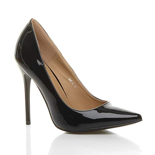 1e56c538e3f Womens ladies high heel pointed contrast court smart party work shoes pumps