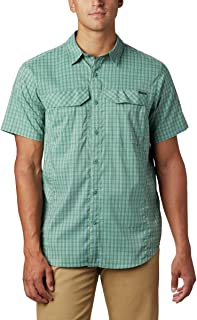 Columbia Men's Silver Ridge Lite Plaid Short Sleeve Shirt, Moisture Wicking
