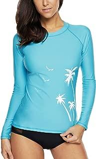 Charmo Women Rashguard Shirt Long Sleeve Swimsuit Surf Shirt UPF 50 Swimwear
