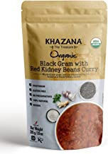 Khazana Gourmet Indian Food Ready to Eat Packaged Meals  USDA-Organic/Vegan/KETO - BlackGram w/Red Kidney Beans Curry • 10oz(6 Pack) • [Prepared Microwave Dishes, Tasty Bite of Indian Kitchen]