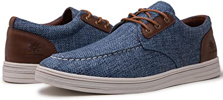 GLOBALWIN Mens Fashion Casual Loafers Lace Up Boat Shoes