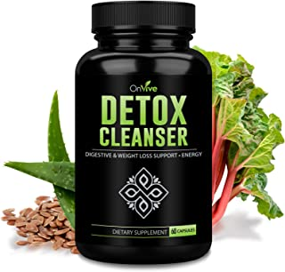 OnVive Organics - Colon Cleanse Detox for Weight Loss - 30 Day Fast Acting Supply, with Natural Laxatives and Probiotics f...
