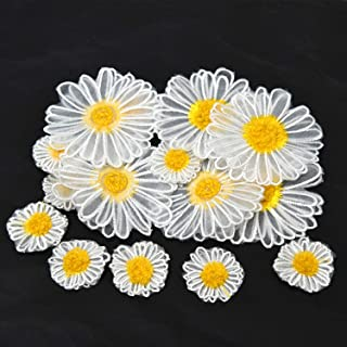 Black Menba Daisy Sun Flower Decorating Lace and Trims for Sewing and Art Craft Projects Yellow