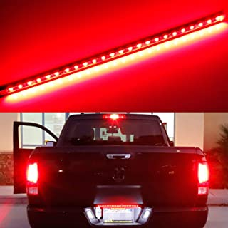 iJDMTOY Universal Fit 17-Inch Red LED Tailgate Light Strip For Truck or SUV, Powered By 24-Piece SMD LED Diodes, Flexible Strip w/Tail Running and Brake Light Feature