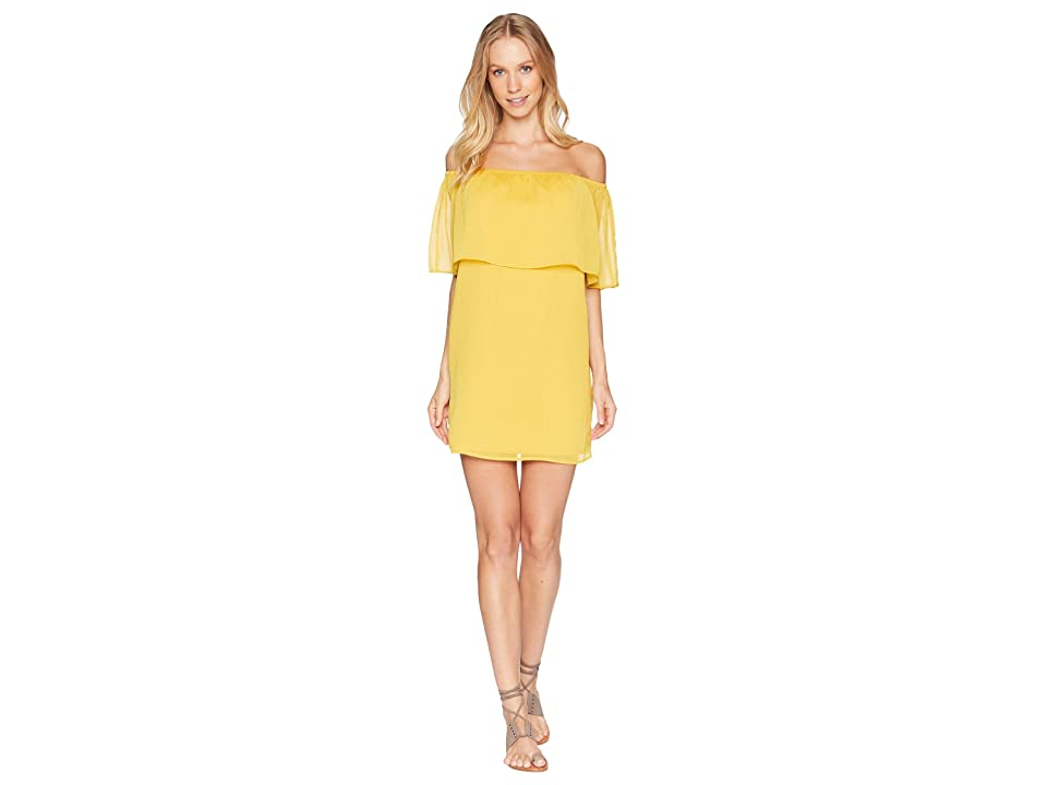 BB Dakota Manic Pixie Dream Off the Shoulder Dress (Mimosa) Women
