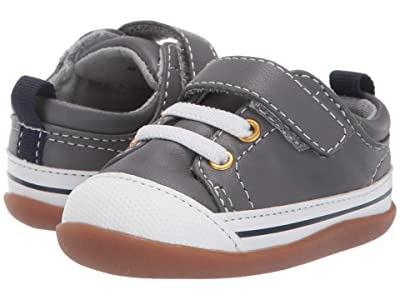 See Kai Run Kids Stevie II (Infant/Toddler) (Gray Leather) Boy