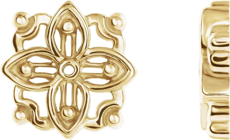 14k Yellow Gold Earring Jacket for Women