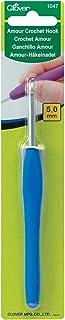 1047/H Clover Amour Crochet Bleu foncé Taille H, 5mm Par Needlecraft Trèfle