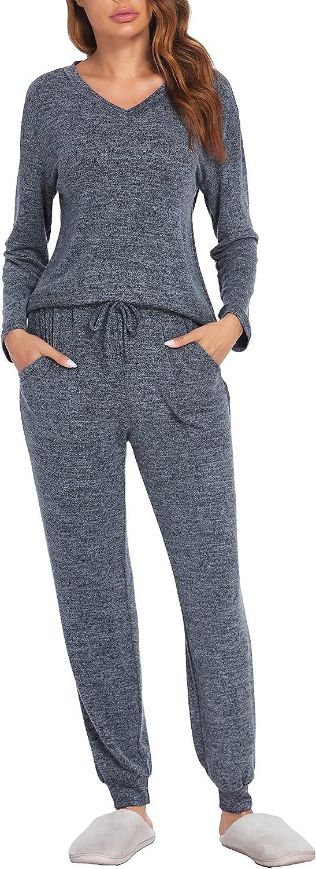 Outlet ☆ 35% OFF Free Shipping Ekouaer Womens Pajama Set Long Pl Sleeve Soft Cashmere Sleepwear