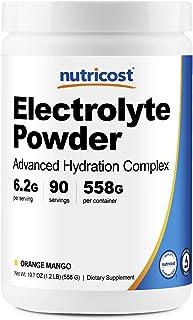 Nutricost Electrolyte Powder, Advanced Hydration Complex, 90 Servings (Orange Mango) - Non-GMO, Gluten Free