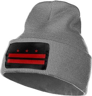 Casual Woolen Cap for Mens and Womens, 100% Acrylic Acid Flag of Washington D.C. Skull Cap