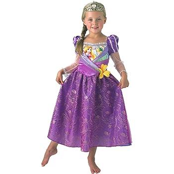 Disfraz de Rapunzel premium de Disney para niña: Amazon.es ...