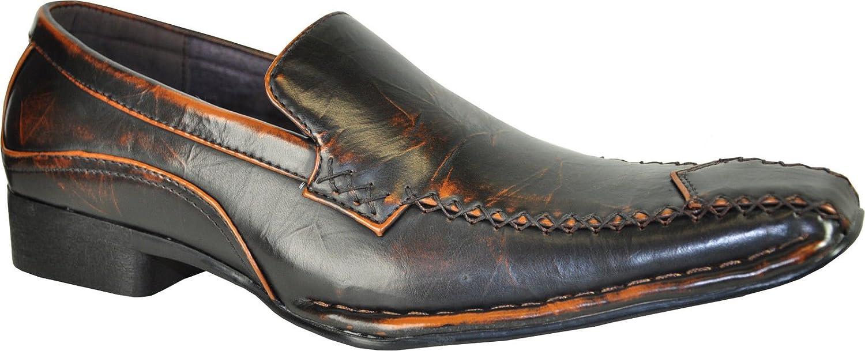 Coronado Marino-4 Dress Shoe Fashion Double Runner Loafer Leather Lining Brown