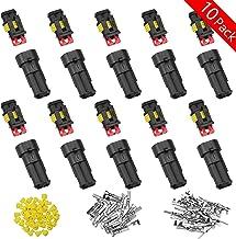 WEKON 10pcs Conector Rápido Electrónico, Conector de Cable Impermeable, Enchufe Estanco, Conector Electrónico 2 Pin PA66M...