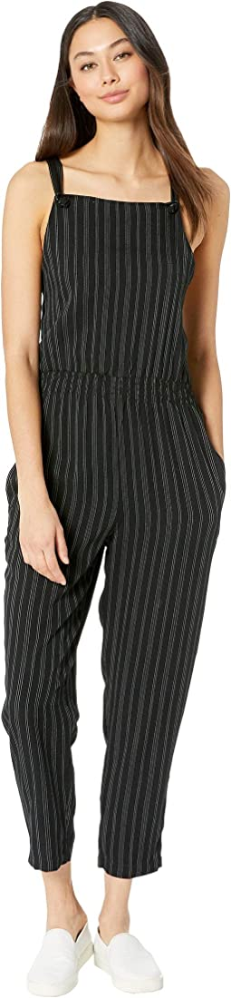 Split Overall Jumpsuit
