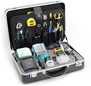 Fiber Optic Tool Kit KomShine Fiber Optic FTTH Tool Kit KFS-40D,Fusion Splicing Tool kit,FTTH Assembly/Termination/Installation Tool Kit (KFS-40D With Cleaver, VFL and Power meter)