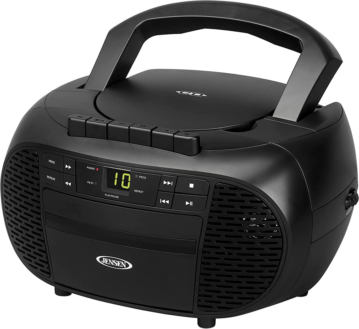 Jensen CD-550 Portable Stereo Compact wit Manufacturer regenerated product trust Recorder Disc Cassette