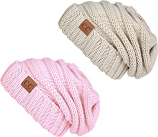 Trendy Warm Oversized Chunky Soft Oversized Cable Knit Slouchy Beanie