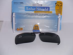 Solar Shield Polarized Clip-on Gray Sunglasses That Fit Plastic or Thick Frames 54 Rec F