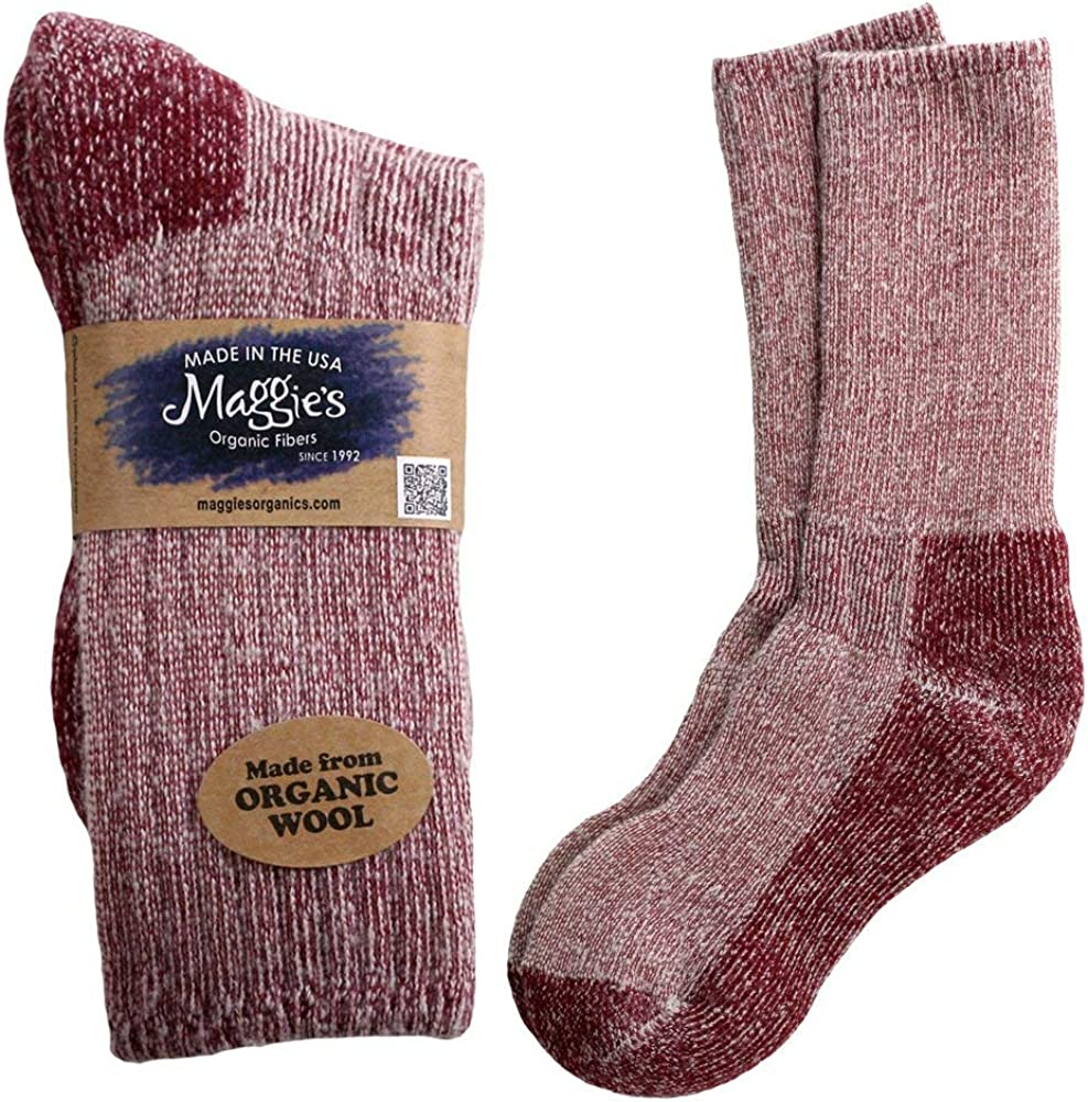Maggie's Functional Organics - Organic Wool Killington Hiking Sock (Raspberry