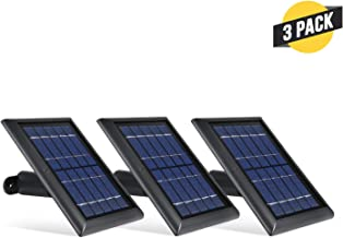 Wasserstein Solar Panel Compatible with Spotlight Cam Battery & Stick Up Cam Battery (3 Pack, Black)