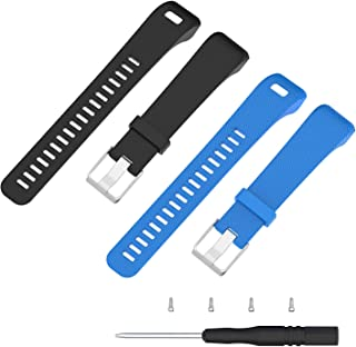 ECSEM Soft Silicone Bands and Straps Compatible with Garmin vivosmart HR+ Smartwatch ONLY (not for vivosmart hr) with Tool...
