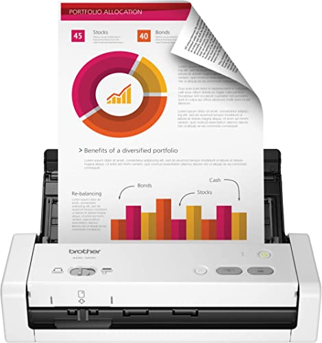 Brother Easy-to-Use Compact Desktop Scanner, ADS-1200, Fast Scan Speeds, Ideal for Home, Home Office or On-The-Go Pro...