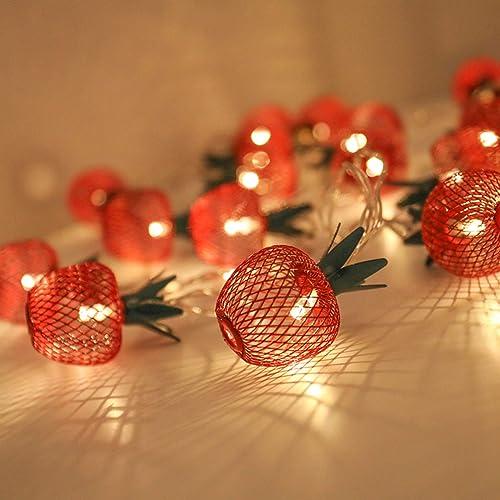 2021 Twinkle Star online sale 10 LED Apple String Lights Metal Mesh Battery Operated sale Fairy String Lights for Bedroom Wedding Indoor Outdoor Home Party outlet online sale