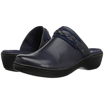 Clarks Delana Abbey (Navy Leather) Women