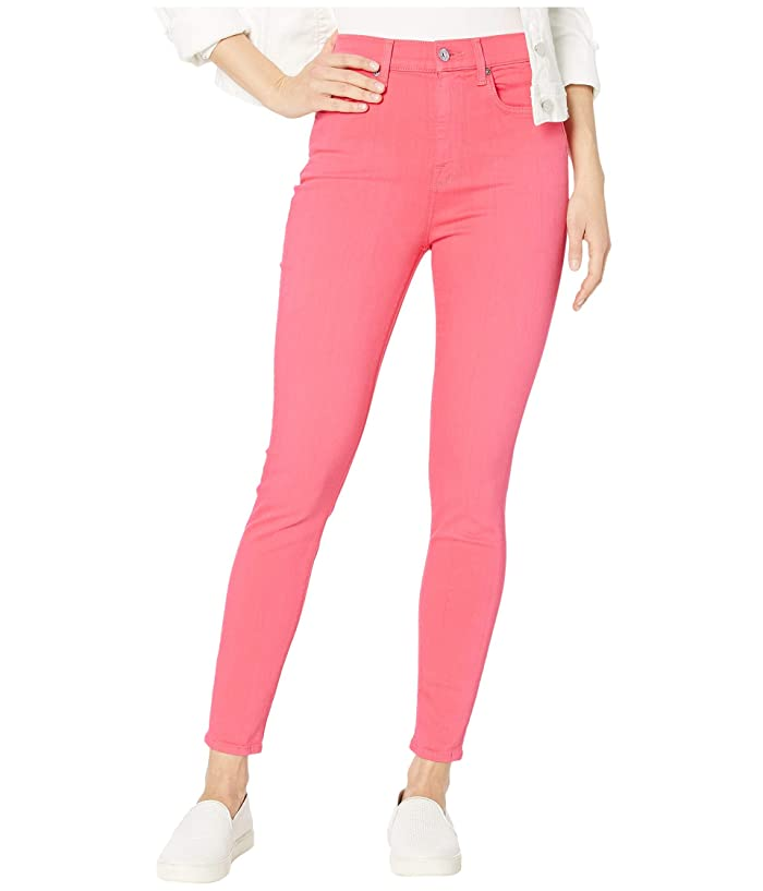 7 For All Mankind  High-Waist Ankle Skinny in Sunset Coral (Sunset Coral) Womens Jeans