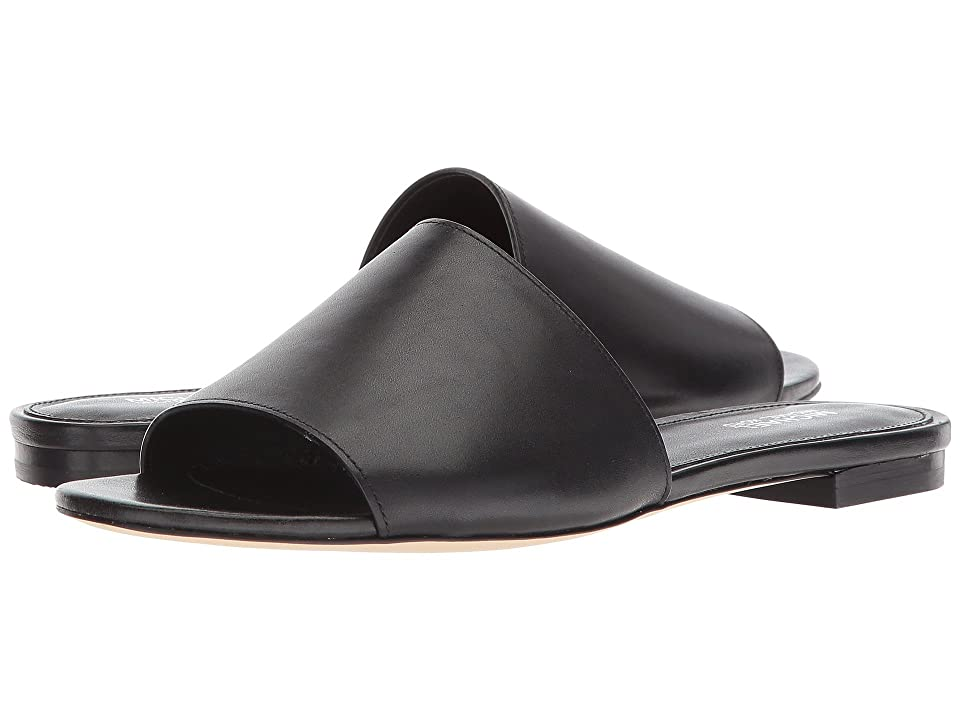 MICHAEL Michael Kors Shelly Slide (Black Vachetta/Stacked Heel) Women