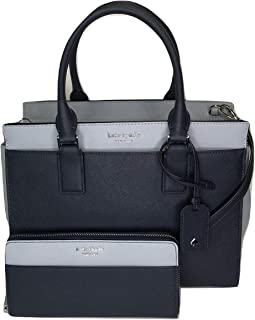 Kate Spade New York Cameron Medium Satchel WKRU5851Z bundled with matching Large Continental Wallet (nchtcp/rnd)