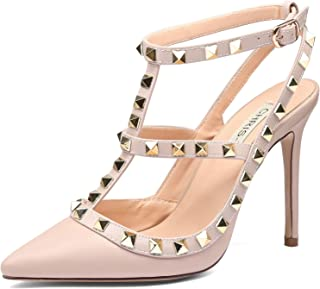 Best studded block heel sandals Reviews