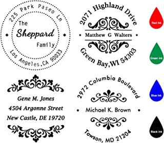 Custom Stamp Self Inking,Personalized Stamp Return Address,1-5/8