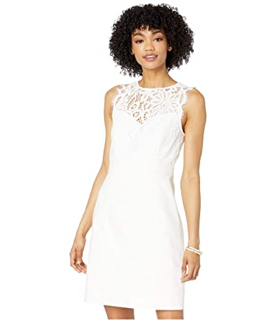 Lilly Pulitzer Sharice Stretch Shift Dress (Resort White) Women