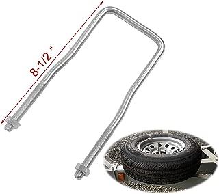 CNSY Trailer U-Bolt Spare Tire Carrier Holder Bracket Side Mount for 4 or 5 Lug Zinc Plated