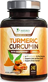 Turmeric Curcumin with BioPerine 95% Curcuminoids 1950mg with Black Pepper for Best Absorption, Made in USA, Natural Immun...