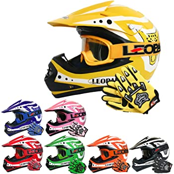 Qtech Childrens KIDS MOTOCROSS MX Style Helmet BMX Quad Bike Quasar Blue Small