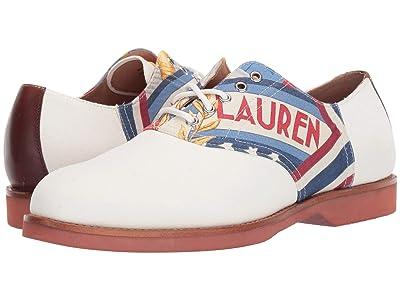 Polo Ralph Lauren Rhett Saddle (Lily White/Chariots/Multi) Men